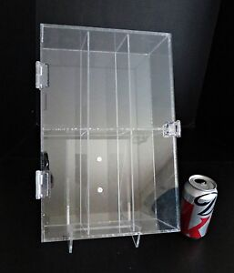 Rectangular Clear Acrylic Locking Jewelry Store Display Case Stand Countertop