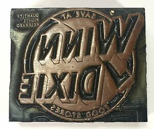 Printing Letterpress Printer Block Decorative Winn Dixie Printer Cut