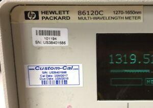 2017 Calibrated Hp agilent 86120c Optical Multi Wavelength Meter Excellent
