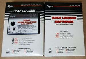Supco Dltt Dual Temperature Data Logger With 2 Probes Computer Software