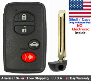1x New Replacement Keyless B Key Fob For Toyota Proximity Remote Case Shell Only