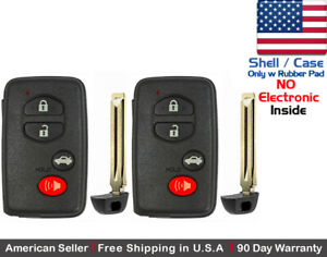 2 New Replacement Keyless Keyfob For Toyota Proximity Remote Case Shell Only