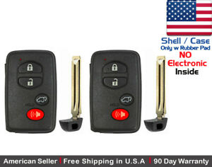 2 X New Replacement Keyless Keyfob For Toyota Proximity Remote Shell Case Only