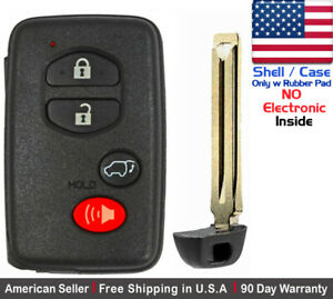 1x New Replacement Keyless Keyfob For Toyota Proximity Remote Case Shel Only