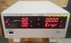 Bench Trms Voltage Current Frequency Power Factor Active Power Meter Analyzer