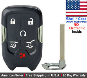 1x New Replacement Keyless Key Fob Case For Chevy Gmc Smart Proximity Shell