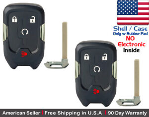 2x New Replacement Keyless Key Fob Case For Gmc Terrain Smart Remote Shell