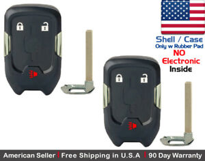 2x New Replacement Keyless Key Fob Case For Smart Gmc Terrain Remote Shell