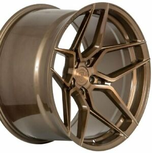 22 Staggered Rohana Rfx11 22x9 22x10 5 Bronze Concave Wheels Rims Forged