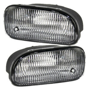 Pair Fog Lights For 99 03 Jeep Grand Cherokee Driving Lamp Set 55155137 55155136