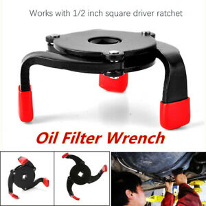 3jaw One Way Oil Filter Wrench Auto Adjust Removal Repair Tool Fine Hard Wearing