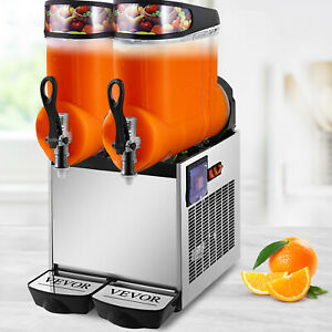 Vevor 24l Slush Making Machine 2 X 12l Slushie Machine Frozen Drink Machine 700w