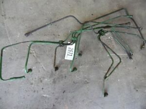 John Deere 4030 Tractor Full Set Of Fuel Lines From Pump To Injectors Tag 2671