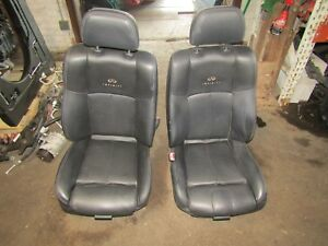 2007 2008 Infiniti G35 Sedan Front Left Right Black Leather Seats Pair Oem