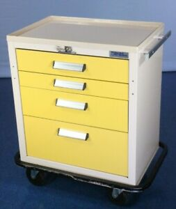 Lockable Blue Bell Bio medical Cart Medical Supply Cart With Warranty