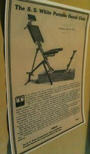 1895 Portable Dental Chair Ad 40 Cost Dentist Orthodontist Poster Repo