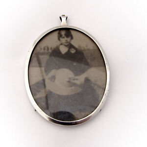 Oval Picture Frame Sterling Silver London 1926