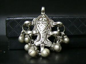 Cl754 Tibet Old Beautiful Sterling Solid Silver Hand Made Pendant From Nepal