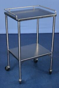 Pedigo Stainless Instrument Table Medical Procedure Table With Warranty