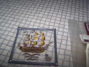 Hms Victory Stained Glass Tile