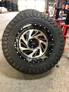 5 20x12 Moto Metal Mo989 37 Mt Wheel And Tire Package 5x5 Jeep Wrangler Jk Jl