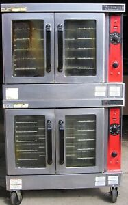 Vulcan 480 Volt Electric Double Convection Oven On Casters Wheels