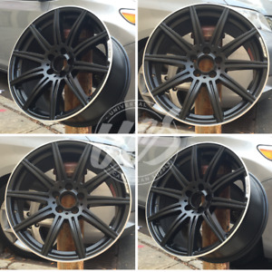 New 19 Mercedes Benz E63 Amg Style Satin Black Wheels Rims Staggered