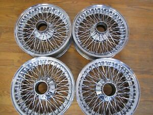 Jaguar E type Series 2 Set Of 4 Wire Wheels With Inner Tubes
