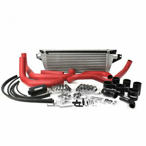 Perrin Fmic Front Mount Intercooler Kit W Red Piping For 2008 14 Subaru Wrx