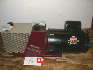 2 Galileo Vacuum Pump Tec Vacsound D 12 3 4hp Franklin Electric Motor 60hz 1ph