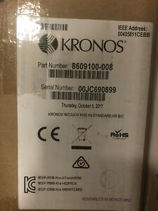 New In Box Kronos Intouch 9100 H3 Poe Time Clock With Power Supply