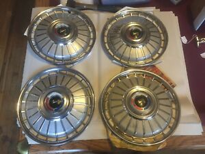 1962 Ford Galaxie 500 Xl 14 Hubcaps Set Of 4 1961 1963 1964