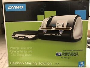 Dymo Desktop Mailing Solution 450 And Poster Printer With 10 Lb Digital Scale