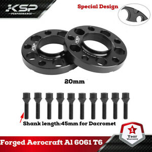 2 Bmw 20mm Hub Centric Wheel Spacers W Lug Bolts E36 E46 323 325 328 335i 545i