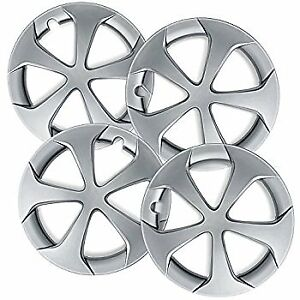 New Wheel Covers Hubcaps Fits 2012 2015 Toyota Prius 15 Silver 5 Spoke Set Of 4