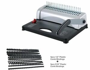 Binding Machine With Starter Combs Set 21 Hole 450 Sheets Paper Punch Binder