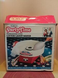 Party Time Cotton Candy Maker Machine Model 3701 Used Once
