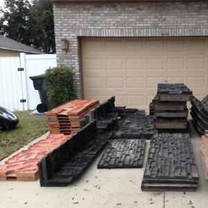 3 Sets Commercial Concrete Stone Form Liners Formliners Stamps Increte Will Ship