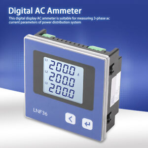 Ip54 Intelligent Power Meter Three phase Ac Current Measurement Ammeter Ac5v Am