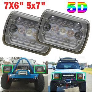 5d 5x7 7x6 Led Projector Headlight Hi Lo Beam For Jeep Wrangler Cherokee Xj Yj