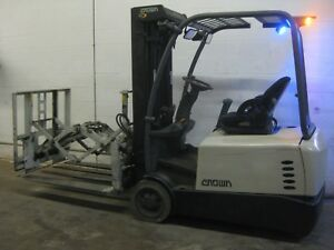 2013 Crown Sc5245 40 Electric Forklift W Cascade Push Pull Attachment