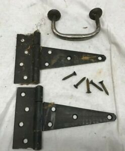 Vintage Antique T Strap Barn Door Hinges Hinge Set Rustic Farmhouse W Handle