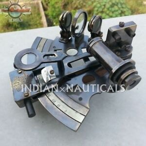 4 Nautical Solid Brass Sextant Vintage Marine Style Navigation Reproduction
