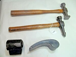 Auto Body Tools Vintage 2 Auto Body Hammers 2 Dolly dent Anvils
