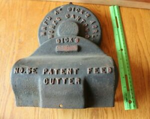Dicks Agricultural Works Ohio Cast Iron Feed Cutter 5e Vintage Wood Stove Cover