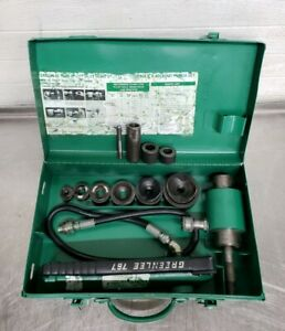 Greenlee 7306 Hydraulic Knockout Driver Metal Punch Set 1 2 To 2 Conduit 3