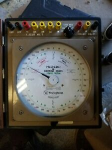Westinghouse Pi 161 Portable Phase Angle Meter Tester And Case