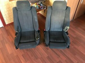 Bmw E34 M5 Fabric Recaro Seats Cloth Prefacelift Seat With Heating Rare E32 Oem