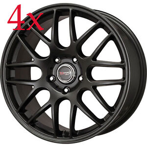 Drag Wheels Dr 37 17x7 5 5x120 42 Cb72 56 Flat Black Rims For Bmw 325 328 335