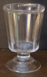 Federal Glass Drinking Glass Late 1800s To Early 1900s Clear Glass W Designs Fs